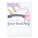 Baseball or Ballet Gender Reveal Cards