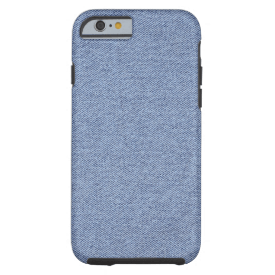 Basic Colors Blue Jean Tough iPhone 6 Case