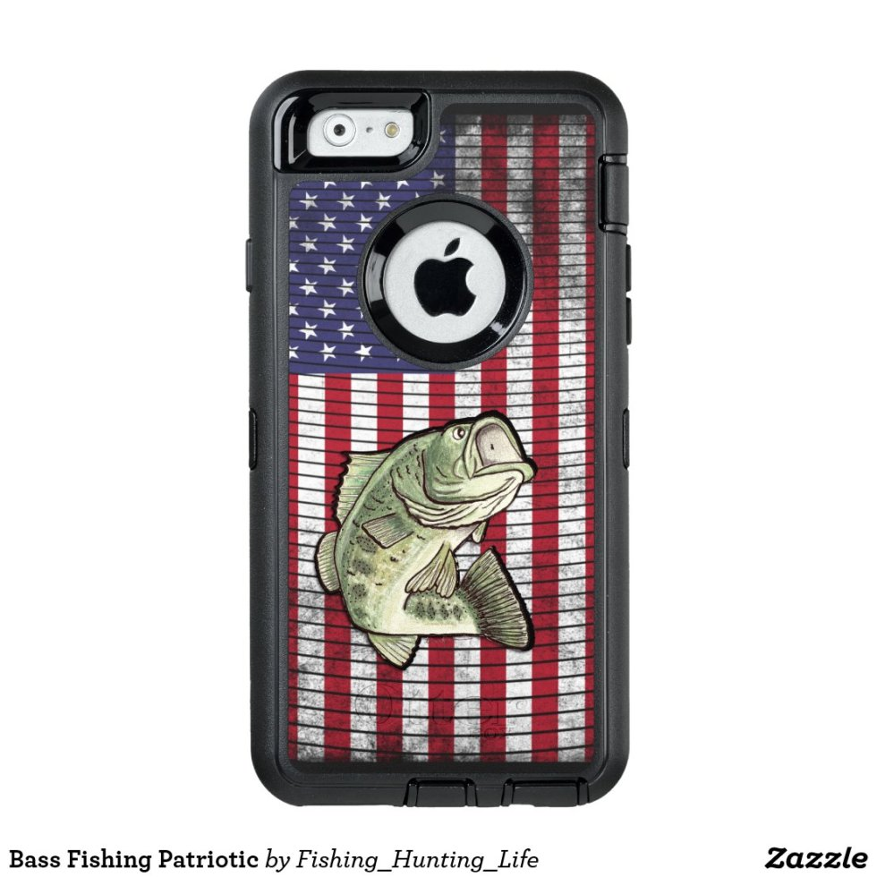 Bass Fishing Patriotic OtterBox iPhone Case