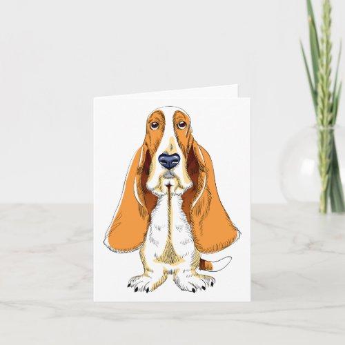 Basset Hound Puppy Dog Note Card