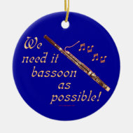 Bassoon as Possible Christmas Ornament