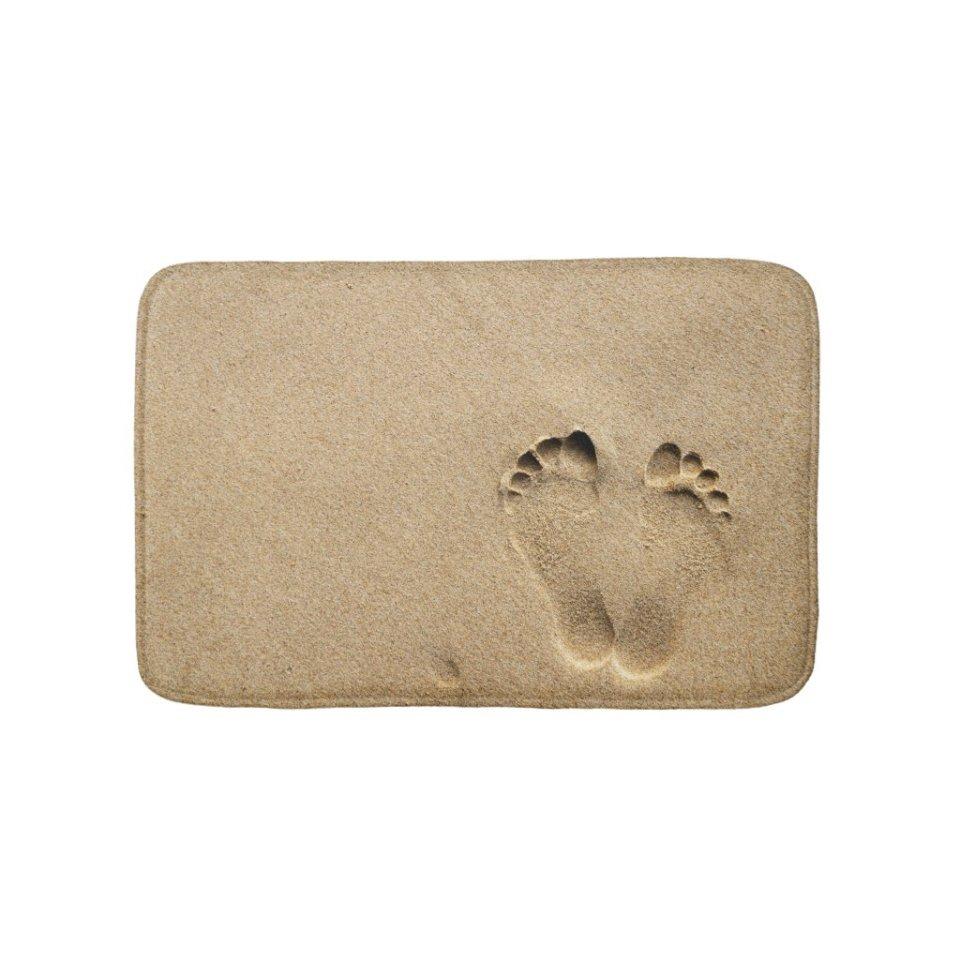 Customized Bath Mat - Footprint in the sand