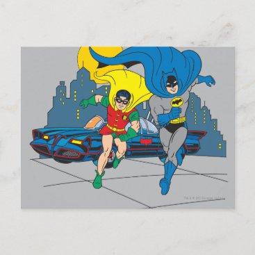 Batman And Robin Running Postcard