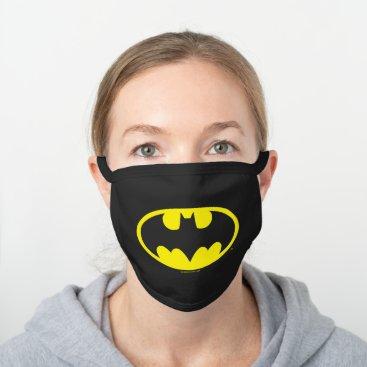 Batman Symbol | Bat Oval Logo Black Cotton Face Mask