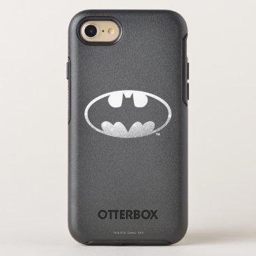 Batman Symbol | Grainy Logo OtterBox Symmetry iPhone 8/7 Case