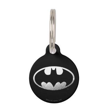 Batman Symbol   Grainy Logo Pet ID Tag
