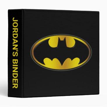 Batman Symbol | Oval Gradient Logo 3 Ring Binder