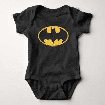 Batman Symbol   Oval Logo Baby Bodysuit
