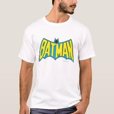 Batman   Vintage Yellow Blue Logo T-Shirt