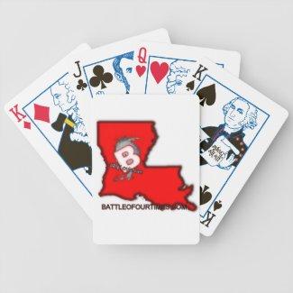 BattleOfOurTimes.Com Bicycle Poker Deck