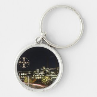 Bayer Cross in Leverkusen Silver-Colored Round Keychain