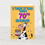 Fun Birthday Cow Greeting Card (also available in other years)