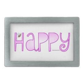 Be Happy - Belt Buckle
