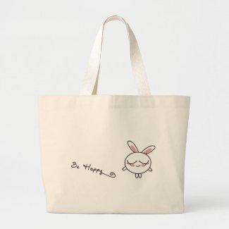 Be Happy Bunny bag