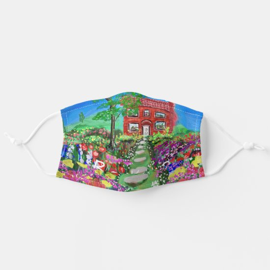 Be Kind Cottage in the Woods with beautiful garden Cloth Face Mask