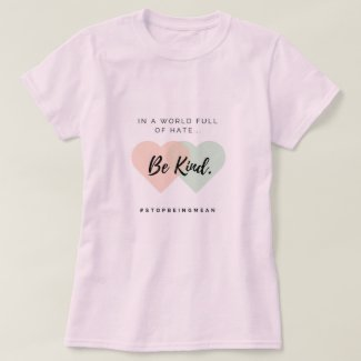 Be Kind T-Shirt with Hearts