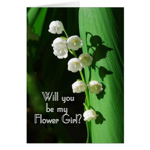 Be My Flower Girl Lily of the Valley Greeting Card