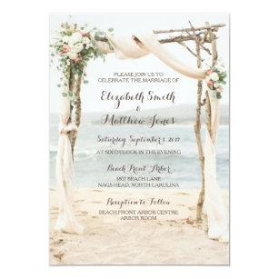 Beach Wedding Invitations Zazzle