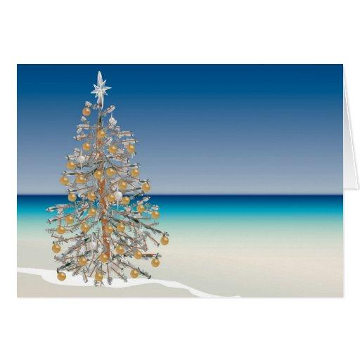 Beach Christmas Greeting Card Zazzle