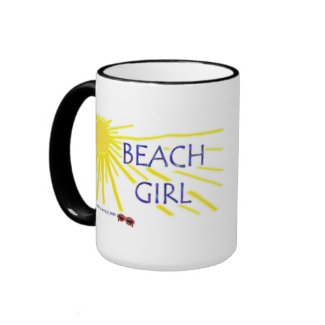 Beach Girl Ringer Mug