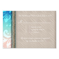 Beach RSVP Wedding Reply Card Dolphins