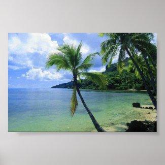 Beach Scene print poster