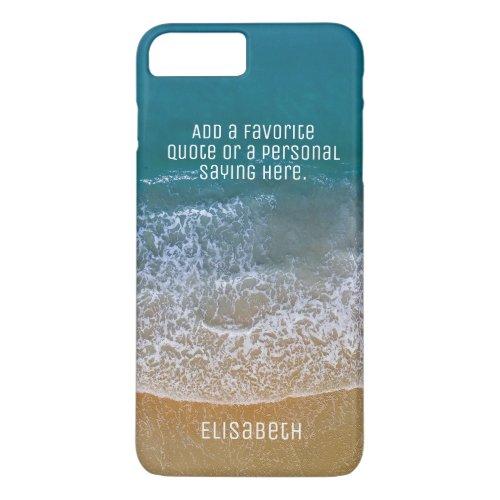 Beach Waves Sand Shore Personalize iPhone 8 Plus/7 Plus Case