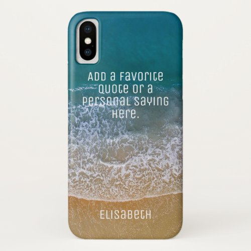 Beach Waves Sand Shore Personalize iPhone XS Case