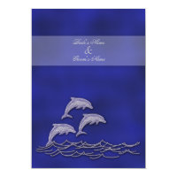 Beach wedding elegant party theme card