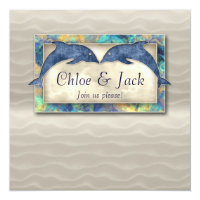 Beach Wedding Invite Dolphin Luau Party Nautical