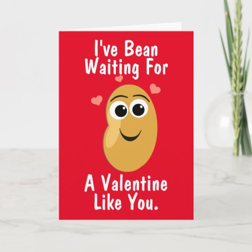 Bean Waiting For You Valentine's Day Holiday Card
