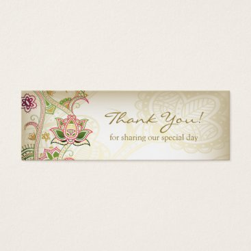 Beautiful Abstract Flowers Thank you Tags