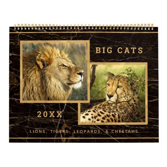 Beautiful Big Cats Photograph Calendar