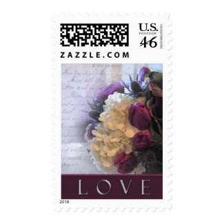 Beautiful bouquet of old fashioned love stamp
