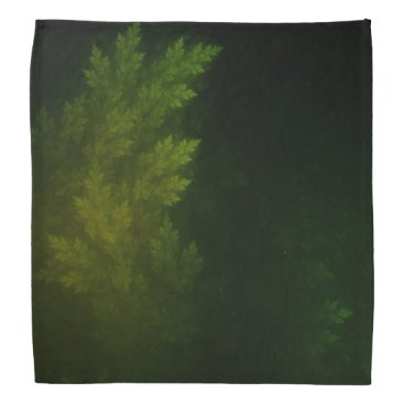 Beautiful Fractal Pines in the Misty Spring Night Bandana
