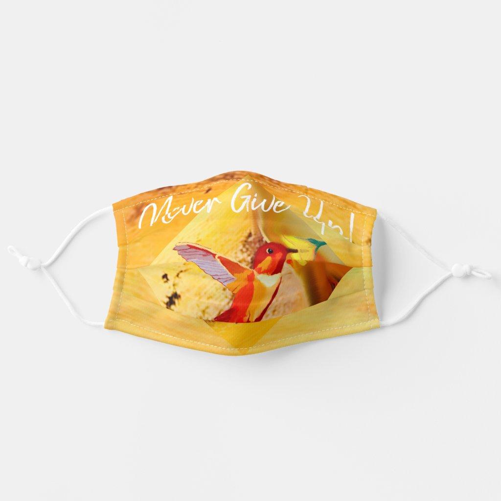 Beautiful Hummingbird symbolic of enjoyment Cloth Face Mask