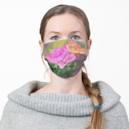 Beautiful Original Painting of Roses Cloth Face Mask
