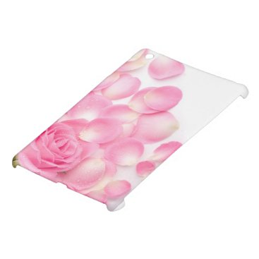 Beautiful Pink Rose with Scattered Petals iPad Mini Cover