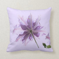 Beautiful Purple Clematis Pillows