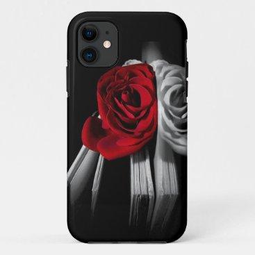 Beautiful Red Rose in book iPhone 11 Case