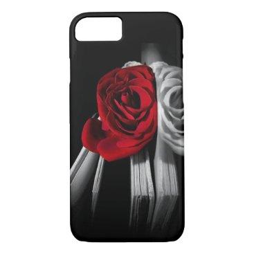 Beautiful Red Rose in book iPhone 8/7 Case