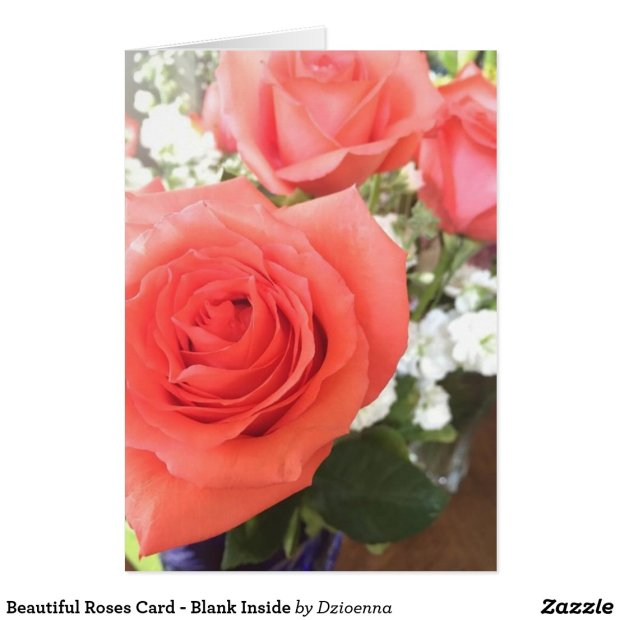 Beautiful Roses Card - Blank Inside