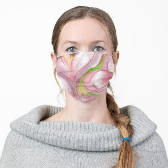 Beautiful Soft Floral Pattern Cloth Face Mask