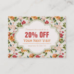 Beautiful Victorian Floral Discount Coupon Gift