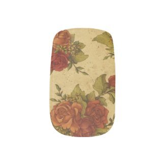 Beautiful Vintage Flowers Minx Nail Art