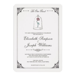 Elegant Wedding Invite Script And Black Border