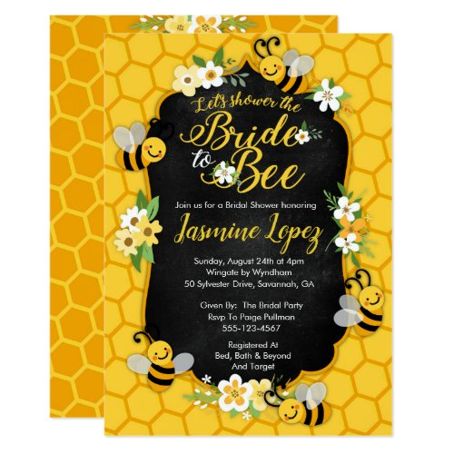 Bee Bridal Shower Invitation