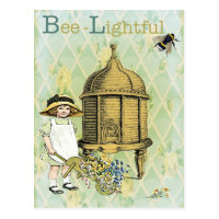 Bee lightful postcard