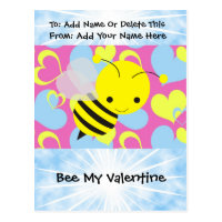 Bee My Valentine Postcard
