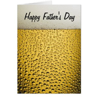 Beer Glass Happy Father's Day Cards